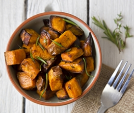 Candied Sweet Potatoes with Brown Sugar Bourbon