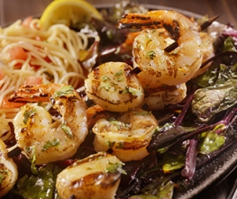 Grilled Shrimp & Scallop Kabobs with Brown Sugar Bourbon