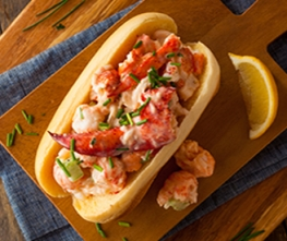 Lobster Rolls with Lemon Dill Sauce