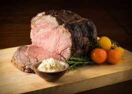 Prime Rib with Horseradish and Garlic