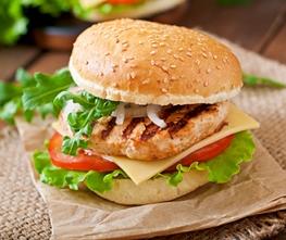 Chicken Sandwich with Beet Horseradish