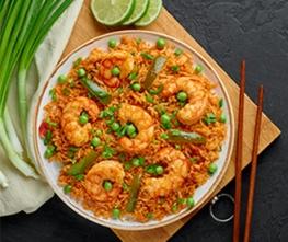 Spicy Sriracha Shrimp Fried Rice