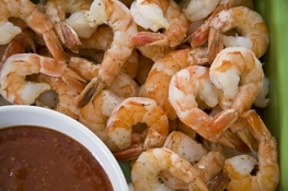 Shrimp Platter with Cocktail Sauce