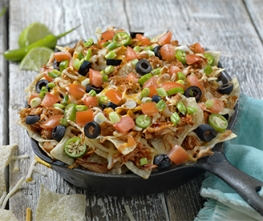 Sriracha Ranch Chicken Nachos