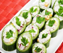 Cucumber-Horseradish Hummus Cups