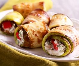 Zucchini Veggie Rolls with Horseradish Dip