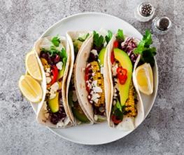 Grilled Veggie, Black Bean & Quinoa Tacos