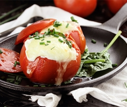 Meat and Cheese Stuffed Tomatoes