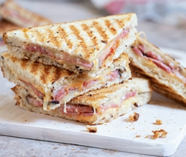 Hot Ham and Cheese Sandwich
