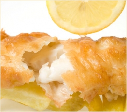 Beer-Battered Fish with Tartar Sauce and Lemon