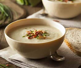 Potato Soup with Horseradish